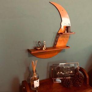 Vintage Crescent Moon Shelf ⭐️🌙
